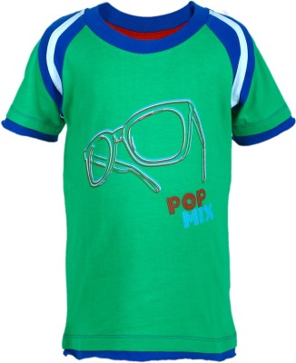 UFO Graphic Print Boy's Round Neck T-Shirt