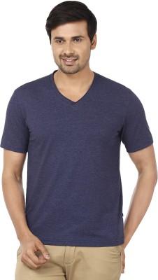 Ruse Solid Men's V-neck Blue T-Shirt