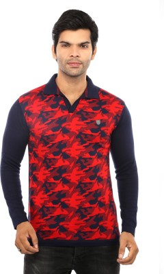 GOT IT Printed Men's Polo Neck Red T-Shirt