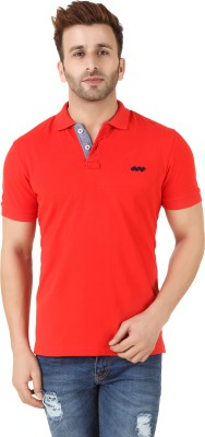 Spunk Solid Men's Polo Red T-Shirt