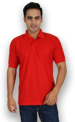 Larwa Sherts Solid Men's Polo Red T-Shirt