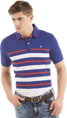 Izod Striped Men's Polo Neck Red T-Shirt