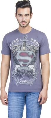 Superman Printed Men's Round Neck Blue T-Shirt