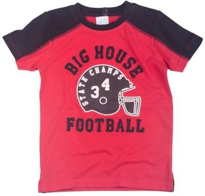 Mini Club Printed Boy's Round Neck Red T-Shirt