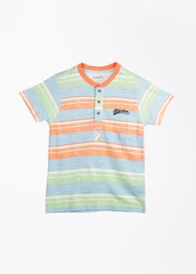 Cherokee Striped Boy's Henley T-Shirt