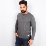 Arcanumz Solid Men's Henley Grey T-Shirt