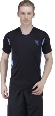 Green Wich United Polo Club Solid Men's Round Neck Black T-Shirt