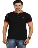 TT Solid Men's Round Neck Black T-Shirt