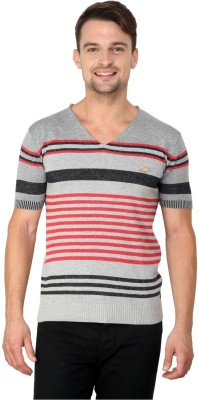 Zeco Woven Men's Polo Neck Grey T-Shirt