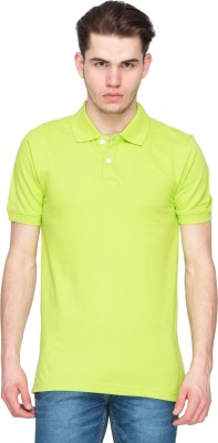 Kanva Solid Men's Polo Green T-Shirt