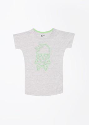 GINI & JONY Solid Girl's Round Neck T-Shirt