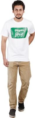 Pickle Moreon Printed Men's Round Neck White T-Shirt