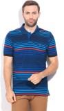 Izod Striped Men's Polo Neck Blue T-Shir...