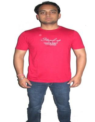 ORKO Solid Men's Round Neck Maroon T-Shirt