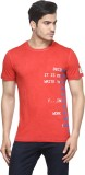 Be Pure Printed Men's Round Neck Red T-S...