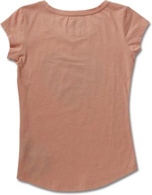 Levi's Casual Short Sleeve Printed Girl's Orange Top
