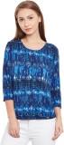 Purys Printed Women's Round Neck Blue T-...
