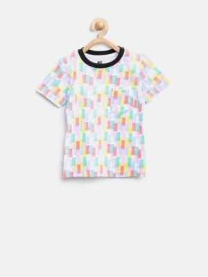 Yk Printed Boy's Round Neck Multicolor T-Shirt