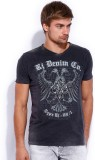 Rookies Printed Men's V-neck Grey T-Shir...