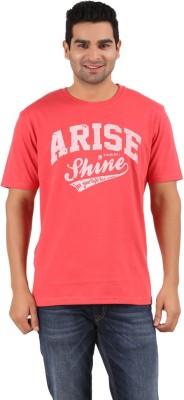Prabu Printed Men,s Round Neck Red T-Shirt