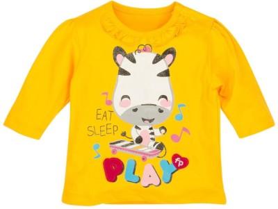 Fisher-Price Printed Girl's Round Neck Yellow T-Shirt