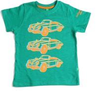 BonOrganik Boys Solid T Shirt(Green)