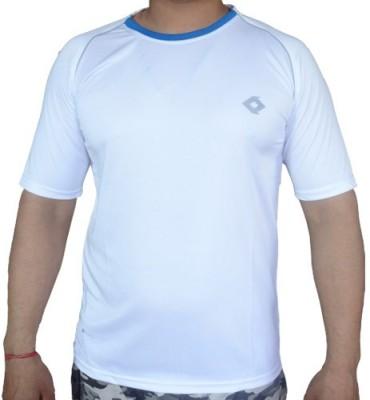 Kaizen Solid Men's Polo White T-Shirt