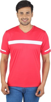 Being Responsible Self Design Men's V-neck Red T-Shirt