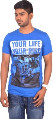 Rogue Printed Men's Round Neck Light Blue T-Shirt