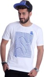 Ektarfaa Printed Men's Round Neck White ...