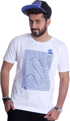 Ektarfaa Printed Men's Round Neck White T-Shirt