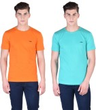Force Nxt Solid Men's Round Neck Orange,...