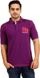 Cayman Solid Men's Polo Neck Purple T-Sh...