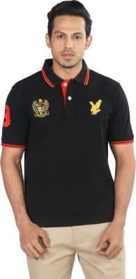 Provogue Solid Men's Polo Black T-Shirt