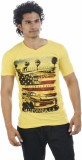 Shapers Printed Men's V-neck Yellow T-Sh...