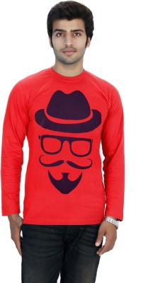 Filimore Graphic Print Men's Round Neck Red T-Shirt