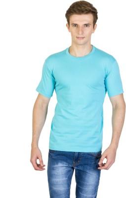 Rexler Solid Men's Round Neck Blue T-Shirt