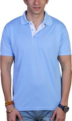 EPG Solid Men's Polo Neck Light Blue T-Shirt