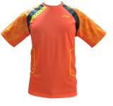 Li-Ning Solid Men's Round Neck Orange T-...