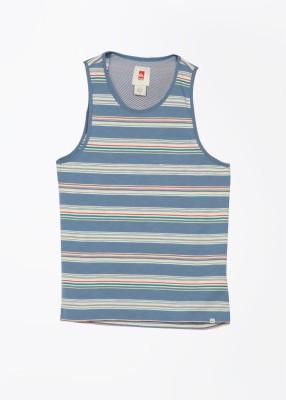 Quiksilver Men's White, Blue T-Shirt