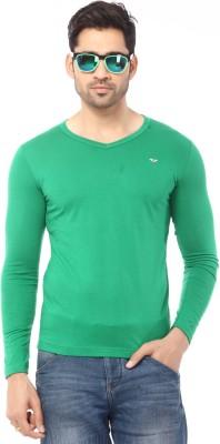Rugby Solid Men's V-neck Light Green T-Shirt