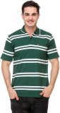 Rose Taylor Striped Men's Polo Neck Gree...