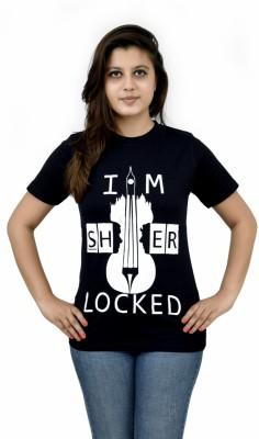 The Dry State Graphic Print Women,s Round Neck Black T-Shirt