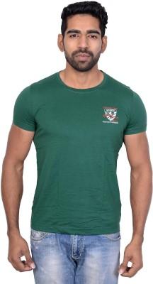 Being Dessi Solid Men's Round Neck Green T-Shirt