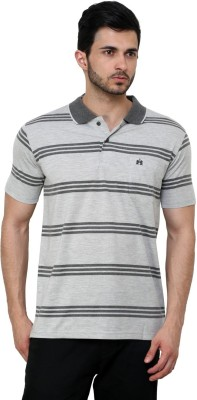 Cotton County Premium Striped Men's Flap Collar Neck T-Shirt