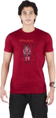 Bib & Tucker Printed Men's Round Neck Red T-Shirt
