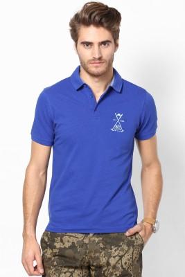 Srota Solid Men's Polo Blue T-Shirt