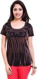TVENO Self Design Women's Round Neck Bro...