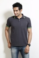 Men's Wear - Design Classics Solid Men's Polo Neck Grey T-Shirt