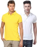 Concepts Solid Men's Polo Neck Yellow, W...
